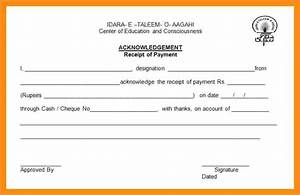 Acknowledgement Receipt For Payment Down Payment Receipt Non Payment