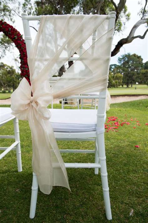 chiavari chair with sash tied to the side adelaide