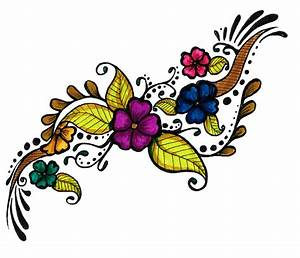 Colorful Flowers Tattoo Design PNG Transparent Image #7 ...
