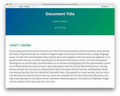 Theme Markdown Rmarkdown Themes Cayman Package