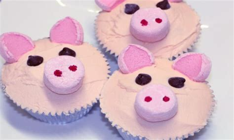 Pig cupcakes   Kidspot