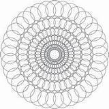 Coloring Spiral Pages Spirals Printable Getcolorings sketch template