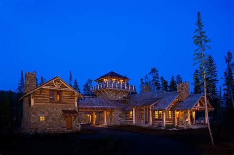 big cabins for foxtail residence big sky log cabins by teton heritage