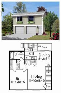 2 Car Garage Apartment Plan Number 87879 With 1 Bed  1 Bath In 2019