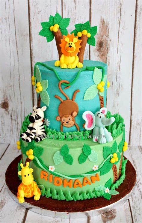 Manju's Eating Delights Jungle Animals Themed Cake