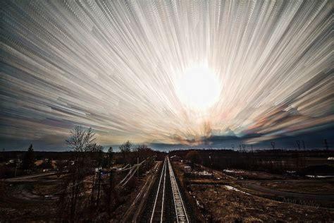 time stack photo technique paints  sky  monet
