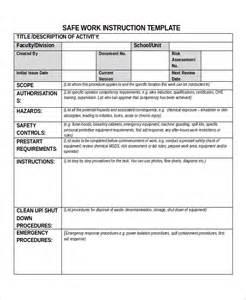 Sample Work Instruction Template