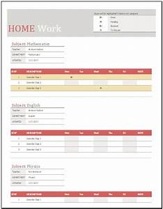 Letter To Professor About Absence Homework Schedule Template For Ms Excel Word Excel