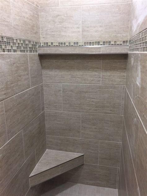 12x24 Tile Bathroom by Master Bath Shower In 12x24 Porcelain Tile Installed At A