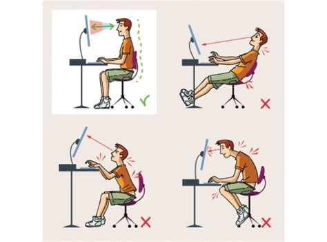 bonne position bureau back and neck advice on ideal desk posture