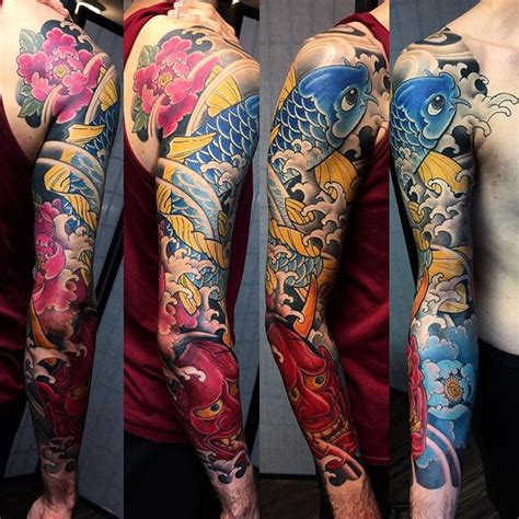 japanese koi sleeve tattoo  bardadim tattoo artist