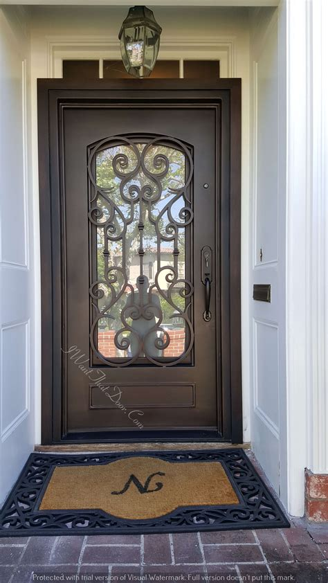 vatican square top dark copper single entry iron doors