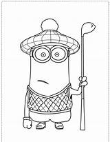Coloring Pages Golf Minion Sheets Minions Google Tim Adult Kid Printable Popular Club Despicable Drawing Books Kevin Giggling Clipart Template sketch template