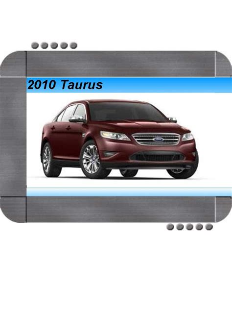 ford taurus  factory service shop manual quality