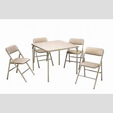 Cosco Products  5pc Folding Table And Chair Set Tan