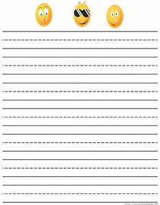 free coloring pages of primary lined paper With free printable lined paper template for kids