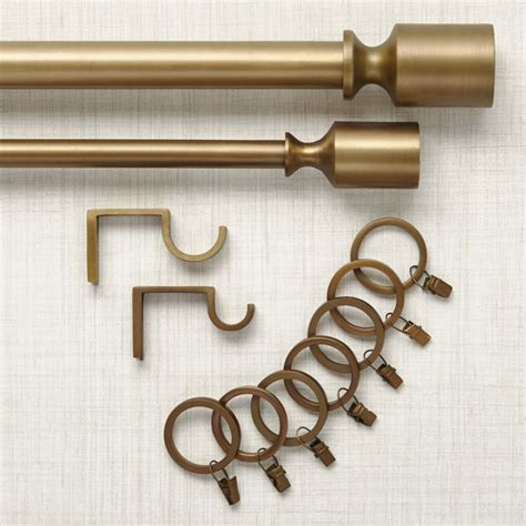 Curtain Hardware by Barnes Antiqued Brass Curtain Hardware Crate And Barrel