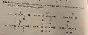 Solved  Following Are Several Lewis Structures Showing All