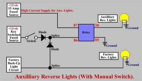 Basic Schematic For Wiring Aux Reverse Lights With