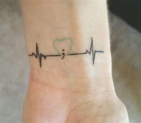 author    life semicolon tattoo  teal