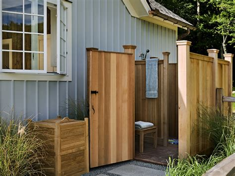 Outdoor Showers :  An Outdoor Shower At The Cottage Adds A
