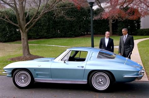 president obama squeals rubber    corvette