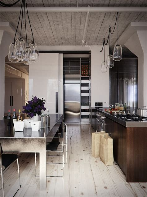 kitchen interiors ideas modern industrial kitchen in 44 awesome photos my