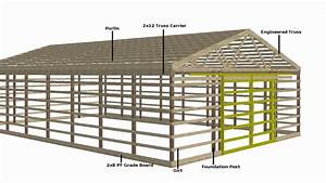 How to Build a Pole Barn - Tutorial 1 of 12 - YouTube