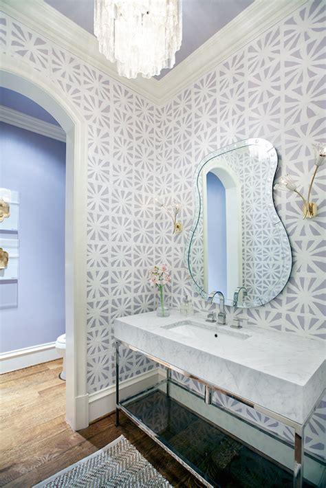 Decorpad Modern Bathroom farrow and lotus wallpaper contemporary bathroom