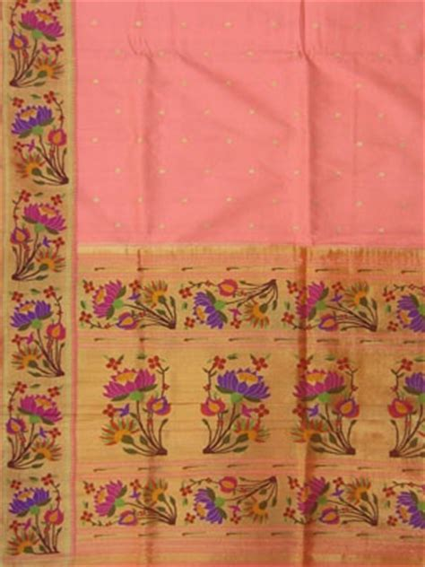 paithani saree lotus border paithani sarees pinterest
