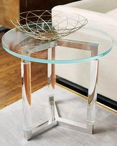 Table Salon Metal : bernhardt salon stainless steel side table ~ Teatrodelosmanantiales.com Idées de Décoration