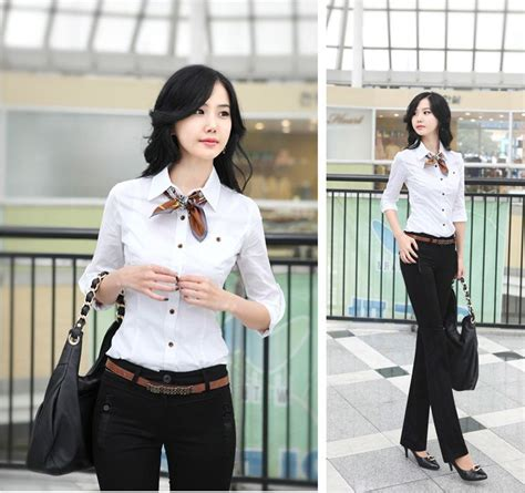 korean women career  simple style dresses fashion trends