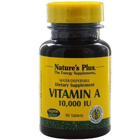 vitamin d l amazon nature 39 s plus vitamin a 10 000 iu 90 tablets iherb com