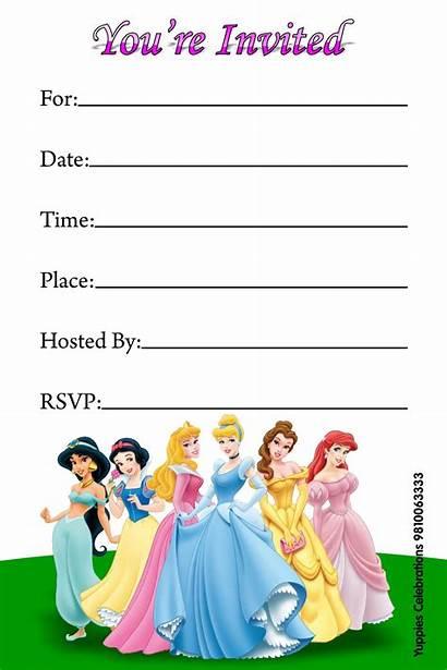 Invitations Princess Party Disney Birthday Printable Invitation