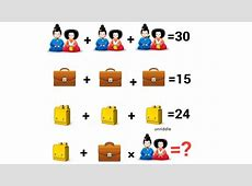 Chinese Couple Equation Only for Genius ! Can you solve it