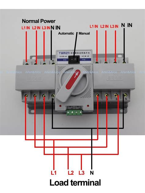 manual generator transfer switch wiring diagram