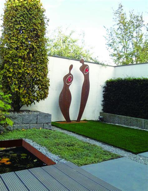 Skulpturen Im Garten by Skulpturen Aus Metall Als Blickfang Im Garten Baustofflust
