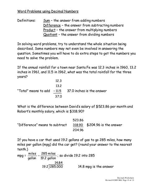 3 math 550 decimals worksheets 2