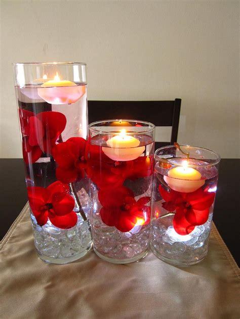 floating candle centerpieces ideas  pinterest