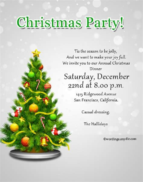 christmas party invitation to employees Christmas party