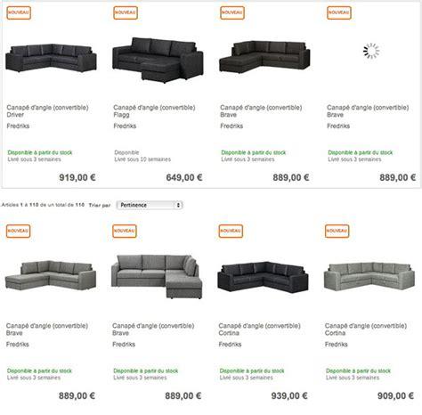 acheter un canap pas cher où acheter un canapé d angle convertible pas cher sur le web