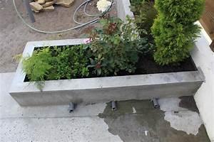 Fabriquer Grande Jardiniere Beton : soucis d 39 tanch it a l int rieur d une jardini re b ton ~ Melissatoandfro.com Idées de Décoration