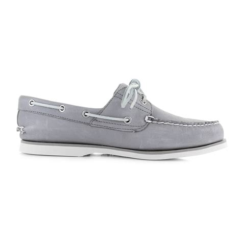 Timberland Boat Shoes Size by Womens Timberland Classic Boat Steeple Grey Leather Deck