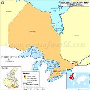 Where Is Kitchener Located In Canada Map