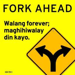 the forever road signs turned into hugot lines