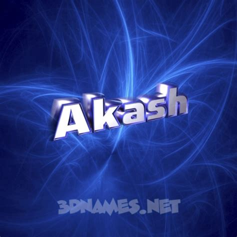 Akash Background by 23 3d Name Wallpaper Images For The Name Of Akash