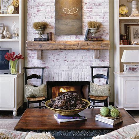 whitewashed brick fireplace home dzine home improvement rev or makeover a fireplace