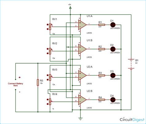 Battery Monitor Circuit Diagram Electronic Circuits