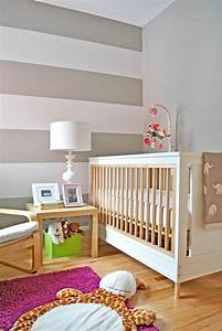 chambre de bebe garcon et fille decoree avec des rayures With chambre bébé design avec fleuriste ligne