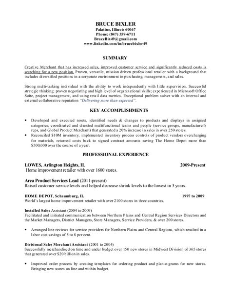 Home Depot Resume Cover Letter by Exle Resume Home Depot Resume Exle